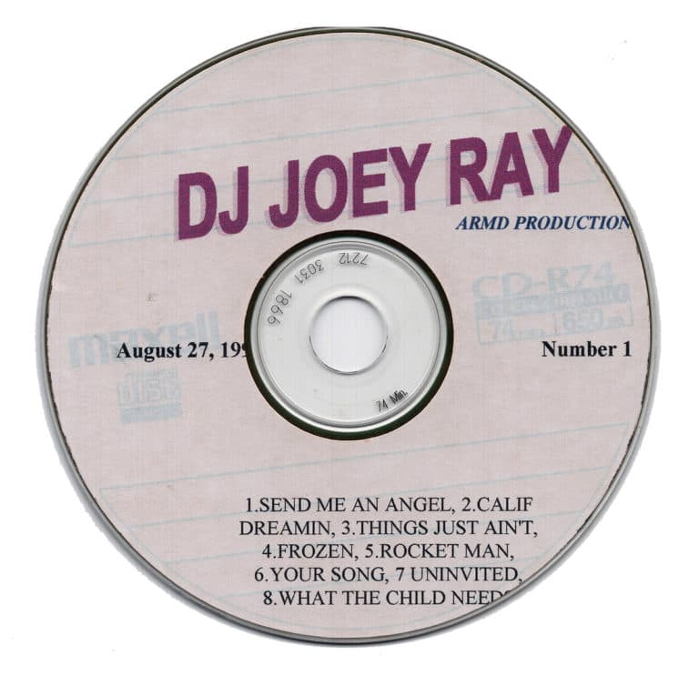 DJ Joey Ray CD