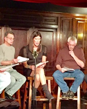 Live reading of Steffi Moores Last Dance at Paradise in the Oak Room of the Raven