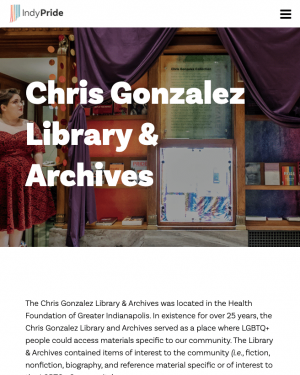 Screen Shot The Chris Gonzalez Library & Archives