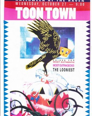 ebert_the-raven_halloween-at-the-raven-poster,-toon-town_1993